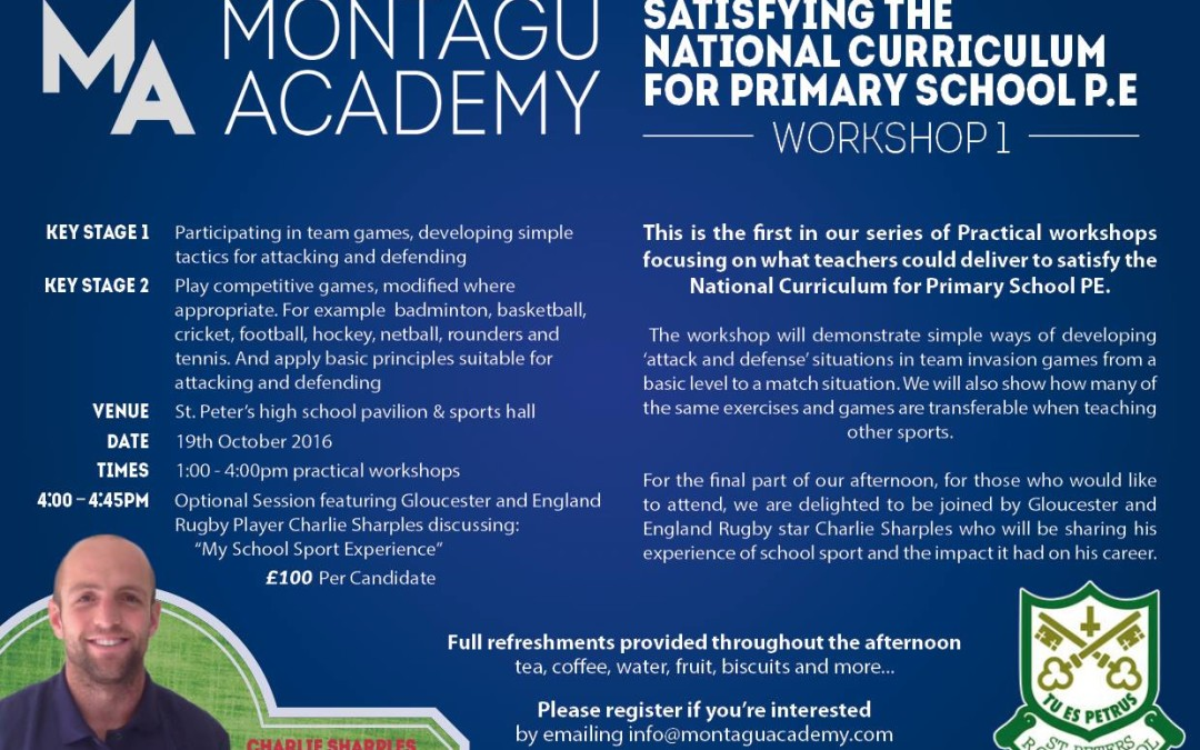 Montagu Academy workshops are here!